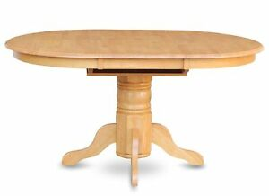 Avon 42x60 round to oval pedestal kitchen dining table ...