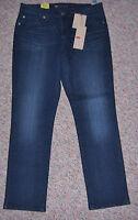 Levi's Blue Denim mid-rise Skinny Leg Slim Leg Jeans Inseam 29 12pm 12 Petite