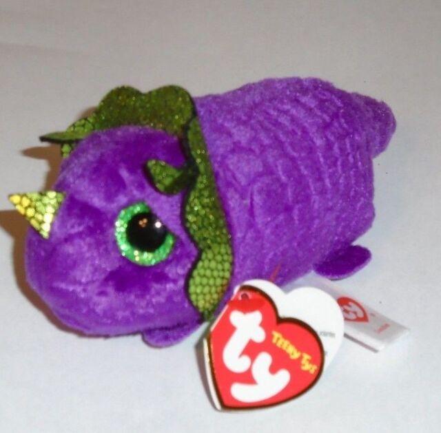 3 Inch Ty Teeny Tys ~ LANDON the Purple Dragon // Dinosaur Stackable Plush NEW