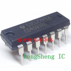 50PCS CD4093BE CD4093 4093 DIP-14 TI CHIP IC NEW