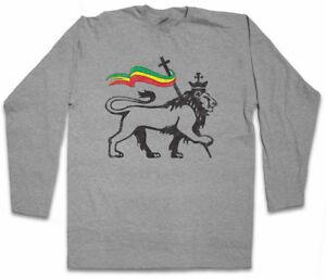 LION-OF-JUDAH-II-LONG-SLEEVE-T-SHIRT-Bob-Rasta-Reggae-Marley-Jamaica-Rastafari