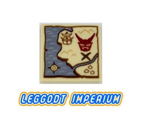 Ninjago Treasure Map FREE POST LEGO Decorated Tile