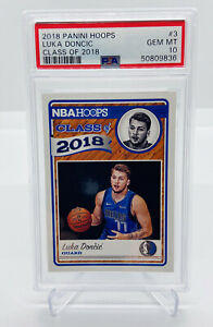 2018-19 PANINI HOOPS LUKA DONCIC CLASS OF 2018 #3 ROOKIE/RC PSA 10 GEM PRIZM