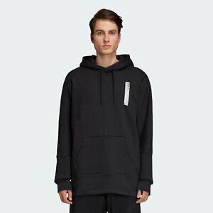 Details zu Adidas Original Nmd Hoodie Herren Schwarz Solid Semi Angepasst Aktiv Wear DH2286