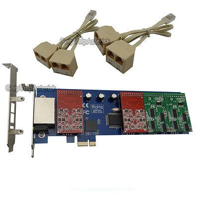 4FXS TDM410P  Asterisk card Low profile PCI card support elastix trixbox