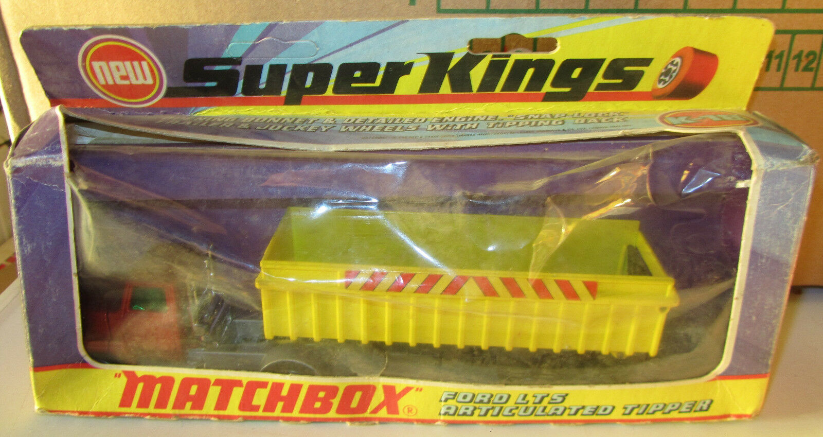 MATCHBOX súperKINGS K-18 Ford LTS Articulated Tipper SPESE GRATIS