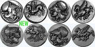 Athena, Goddess of Wisdom and Pegasus, 4 Coin set, 4 Versions (4-AthPeg-S)