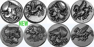 4 Greek Coin Set 4 Versions Zeus King of the Gods 4-ZUESSET-S