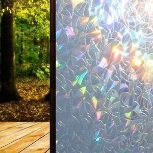 3D Window Glass Film Rainbow Sticker Stained Anti UV Self-adhesive 45*200cm