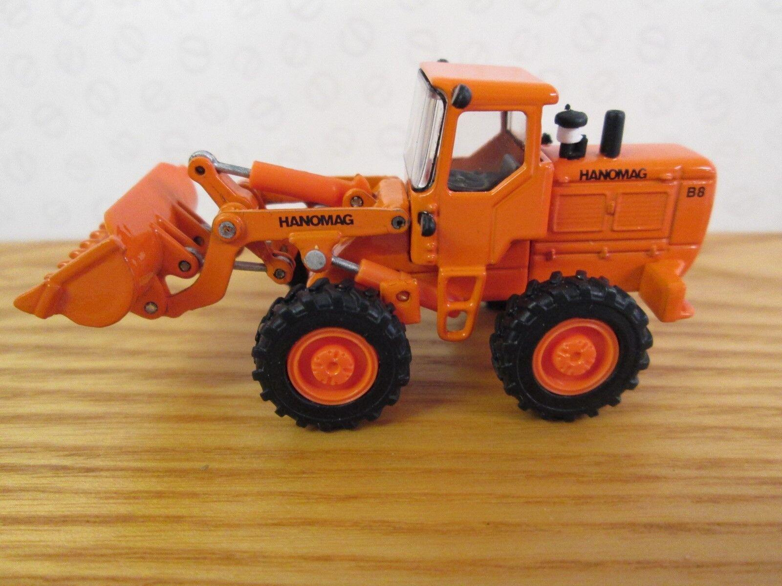 NZG. Hanomag B8 Radlader. 1 87. No 599. Orange
