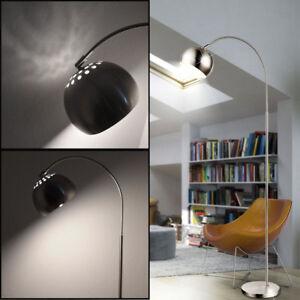 Design-LED-Bogen-Steh-Lampe-Wohn-Arbeits-Zimmer-Schalter-Lese-Beleuchtung-silber