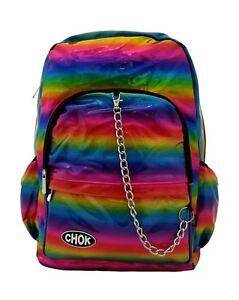 CHOK-HOLO-PRIDE-RAINBOW-3D-REFLECTIVE-BACKPACK-RUCKSACK-GAY-LGBT-Unisex-Bag