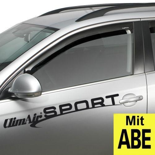 03-3709 mit ABE Farbausf/ührung: schwarz Set mit Parkscheibe ClimAir Windabweiser vorne