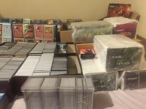 LOT-1000-CARDS-MAGIC-THE-GATHERING-BULK-INFRECUENT-AND-LANDS