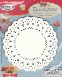 Tortenspitze-rund-50-Stueck-9-cm-weiss-Paper-doilies-Papierdeckchen-Meyco-34840