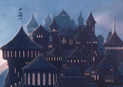 A0 A1 A2 A3 A4 Sizes Hogwarts Harry Potter Castle Art Large Poster Print