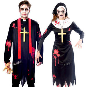 bd4df6480 Image is loading Zombie-Religious-Sinners-Adults-Fancy-Dress-Undead-Gory-