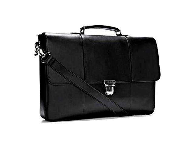 Cole Haan Men S Mckinney Ii Briefcase Leather Messenger Bag New