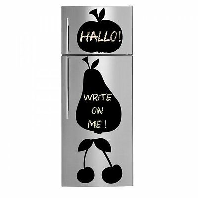 Pear and Cherries Apple Fridge Kitchen Sticker // Wall Stickers Chalkboard