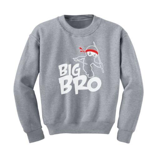 Big Brother Gift Idea For Elder Sibling Kids Sweatshirt Big Bro Ninja Boy
