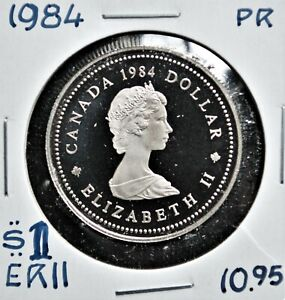 Jacques Cartier - 1984 Canada $1 Proof Nickel Dollar
