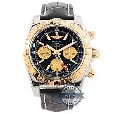 Breitling Chronomat GMT 44 CB042012/BB86 Auto 44mm Steel Gold Mens Strap Watch