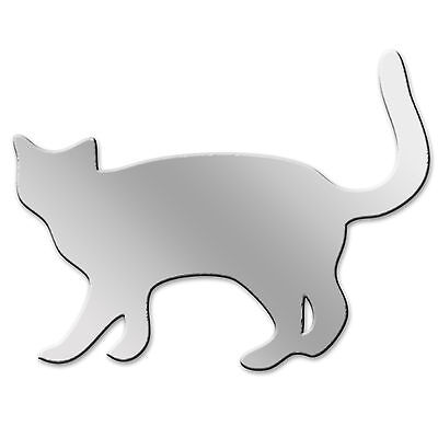 ACRYLIC ANIMAL NOVELTY CAT MIRROR ACRYLIC SHATTER RESISTANT PERSPEX IDEAL GIFT