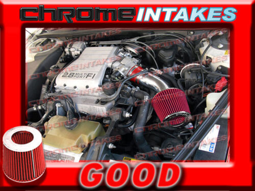 RED 88 89 90 91 92 93 PONTIAC GRAND PRIX 2.8 2.8L//3.1 3.1L V6 AIR INTAKE KIT
