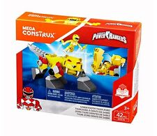 Mega Construx Power Rangers - Sabertooth Tiger Zord and Yellow Ranger