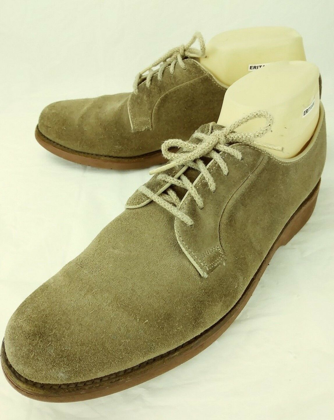 Barrie LTD Booters Mens shoes Oxfords US 10 Brown Suede Lace Casual 2865