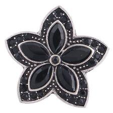 Button Click Druckknopf 6286 Kristall Stern Blume - kompatibel Chunk Armband