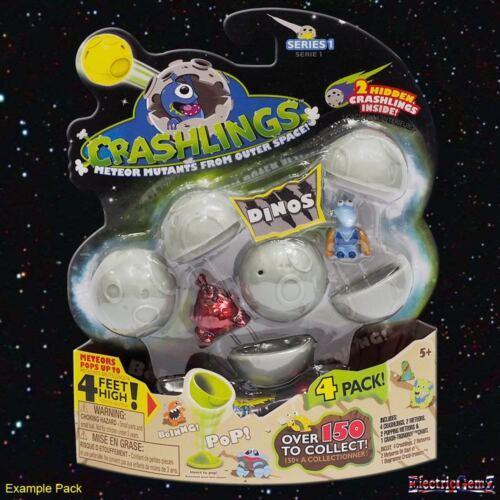 Crashlings 4 Pack-Série 1 Dino Crashlings Inc 4 figures et 4 météores