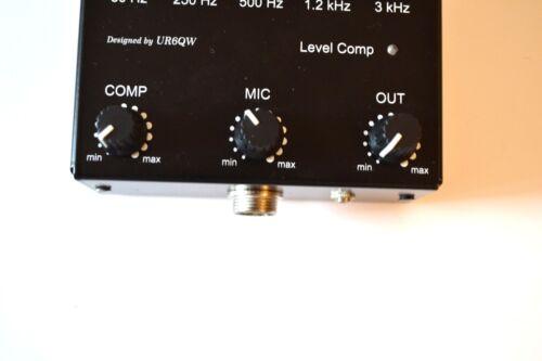 Sound Compressor Equalizer to ICOM Radio 8 pin mic transceiver VIDEO INSIDE