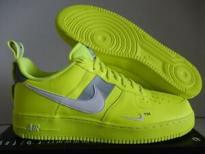 Details about NIKE AIR FORCE 1 07 LV8 UTILITY VOLT WHITE BLACK WOLF GREY SZ 14 [AJ7747 700]