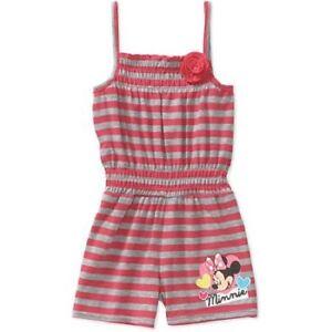 dd945228b42 Image is loading Disney-Infant-Toddler-Girls-Minnie-Mouse-Romper-Stripe-