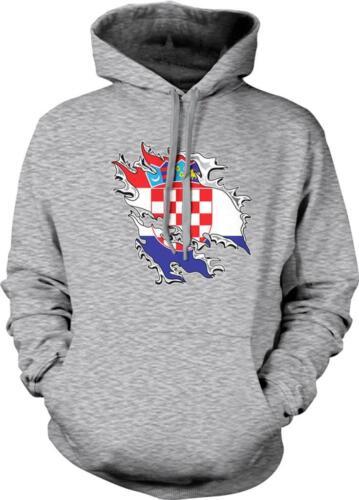 Croatia Shred Flag Croatian Pride Hrvatska Zastava Ponosa Hoodie Pullover