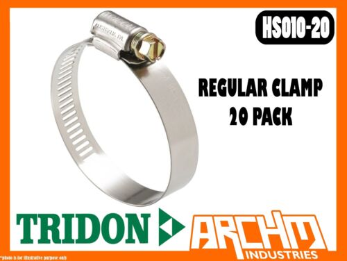REGULAR CLAMP HOSE 20 PACK 14MM-27MM PERFORATED PART STAINLESS TRIDON HS010-20
