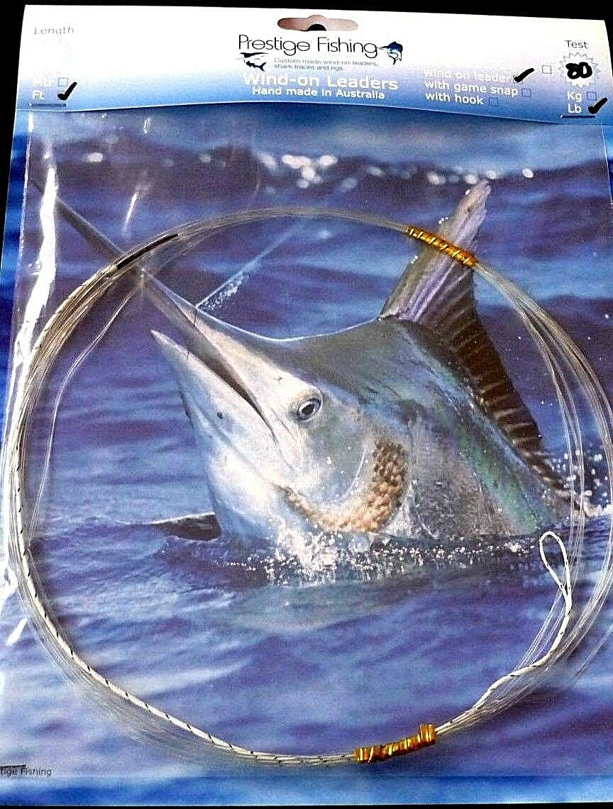 wind on leader 10 x 80 lb wind on leaders Mono line Game fishing Marlin tuna