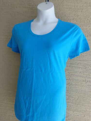 New Just My Size Short Sleeve Scoop Neck Jersey Women/'s Tee Aqua Blue 1X 16W