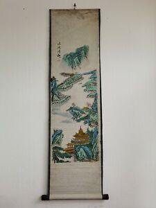 Rollbild-China-Handwerkskunst-Motiv-Landschaft