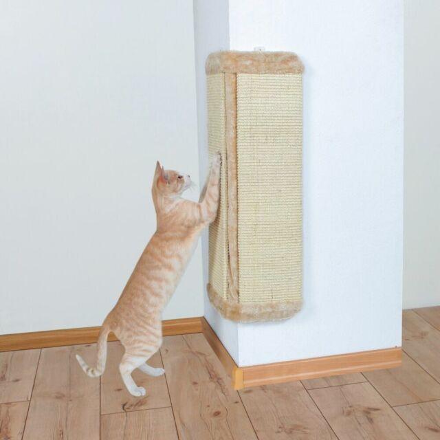 Cat Scratching Board Corner Scratcher Sisal Extra Large Beige 40 x 75 cm