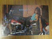 Bon Jovi Rock N Roll Original 1989 Vintage Poster On Harley A