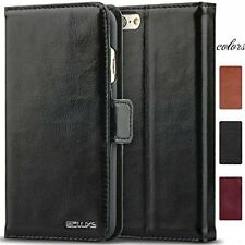 iPhone 6 Plus Leather Case, ACLUXS Genuine Cow Leather Wallet Case for Apple