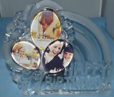 Gorham Glass Sentimental Traditions Happy Birthday Picture Frame New in Box