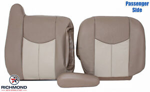 Enjoyable Details About 03 06 Gmc Yukon Yukon Xl Denali Passenger Side Complete Leather Seat Covers Tan Ibusinesslaw Wood Chair Design Ideas Ibusinesslaworg