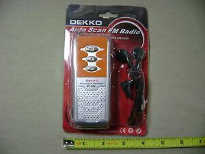 Dekko DK-9921 Auto Scan FM Radio/Flashlight with Earphones (NEW) Portable Mini