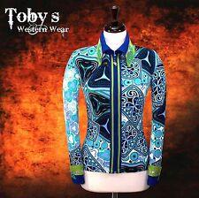 MED. PRETTY Western Showmanship Horsemanship Show Jacket Shirt Rodeo Queen Rail