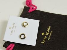 KATE SPADE SPOT THE SPADE EARRINGS in  WHITE/GOLD  NEW WITH TAG  POUCH INCLUDED