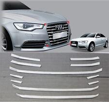 Chrome Center Radiator Grille Garnish Molding Trim 11p For 2012-2015 Audi A6