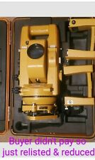 Topcon Gts 2 Theodolite Total Station With Case Amp Additional Batteries Relisted
